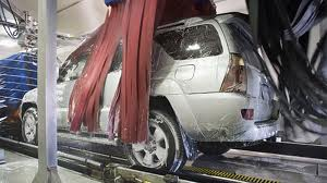 Image of a car in an automatic car wash