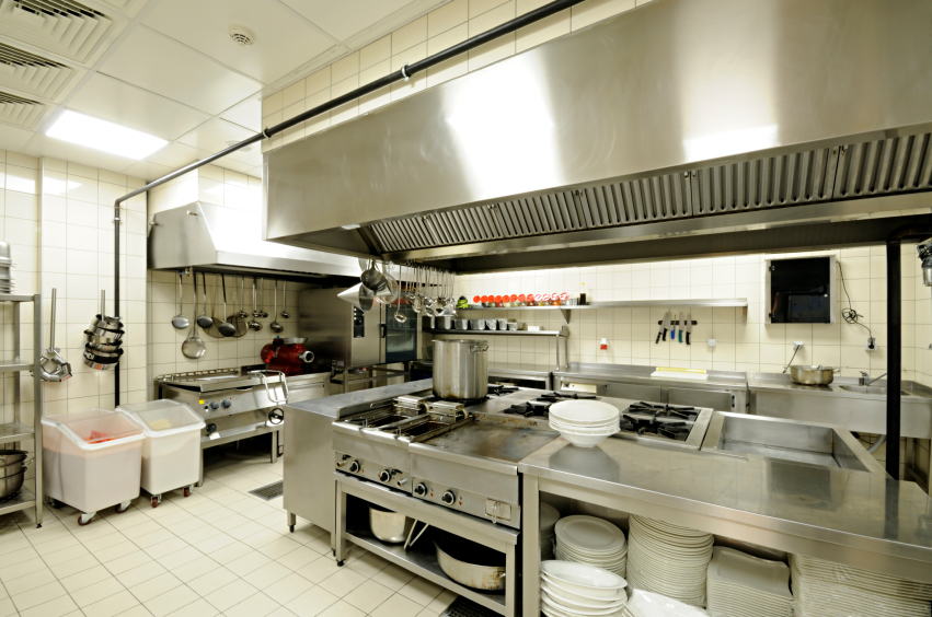 Image of a clean commercial kitchen